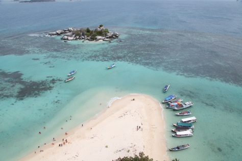 Island hopping off Belitung Island will take you to sights such as this