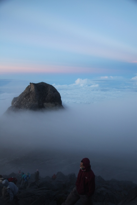 The view from the summit of Mount Kinabalu