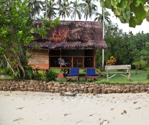 Bungalows at Cubadak are rustic-chic